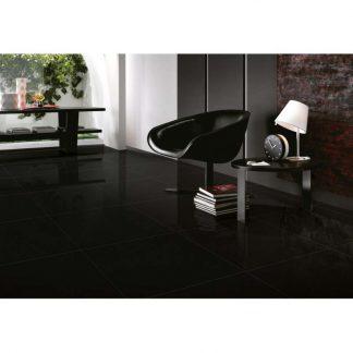 Black Ice Polished Porcelain Tiles Floors of London