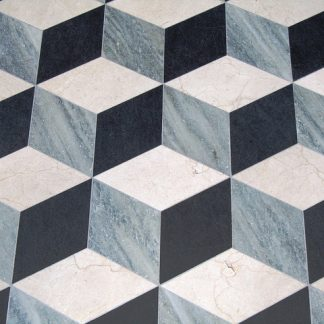3D 3 colour grey marble floor