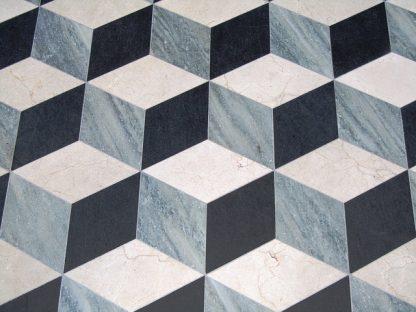3D 3 colour grey marble floor